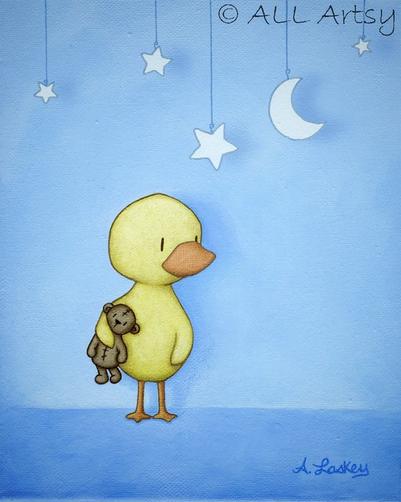 Staging The Stars - matted canvas 8x10 nursery art print - childrens wall art