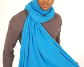Blue Scarf - Unisex - Organic Clothing - Eco Friendly - Jersey Knit  - Several Colors Available