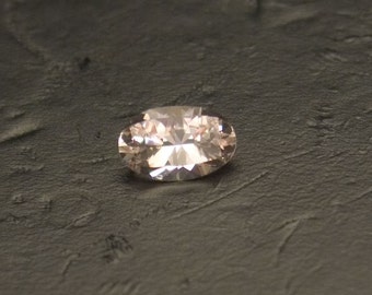 Morganite Natural and Untreated Loose Very Light Pink Peach Elongated Facted Oval Gemstone