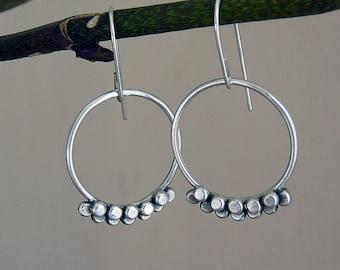 Sterling silver earrings. Sterling silver drop earrings. Silver jewellery. Handmade. MADE TO ORDER.