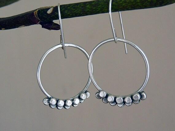 Sterling Silver Earrings  - Sterling silver drop earrings - Handcrafted jewelry - Silver jewelry