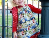 Nativity Pillowcase Dress with Side Bow