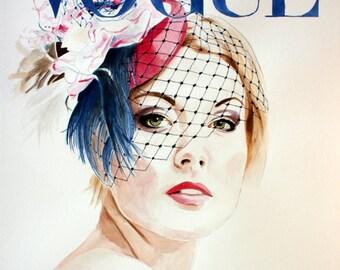 Vogue. Hat by Ella Gajewska. Print or Print with Mat. Frame Ready. Choose Size