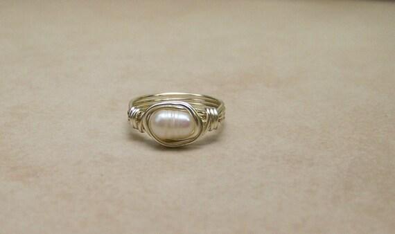 Girl,Toddler, Baby Freshwater Pearl Ring Free shipping