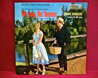 The LONG, HOT SUMMER - Original Soundtrack - 1958 Vintage Vinyl Record Album