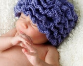 Solid Ruffle Pixie Hat and Ruffles Diaper Cover Crochet Pattern -- Photography Prop (562)