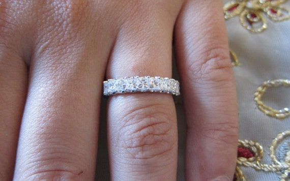 common prong princess cut wedding band - Princess Cut Wedding Ring