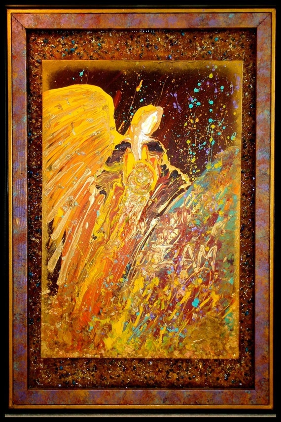 Items similar to manifesting healing angel original for Angel paintings for sale