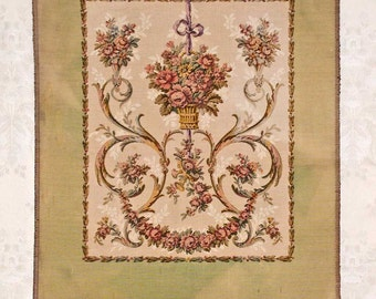 Vintage Faded French Tapestry For Chair Back or Wall Hanging - Never Used