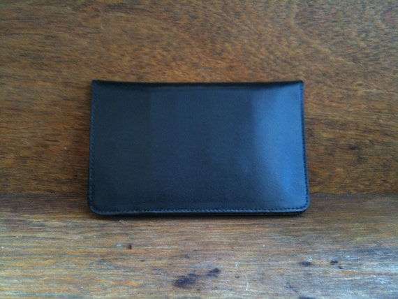 Vintage French Leather Business Card Case Wallet circa 1970's / English Shop