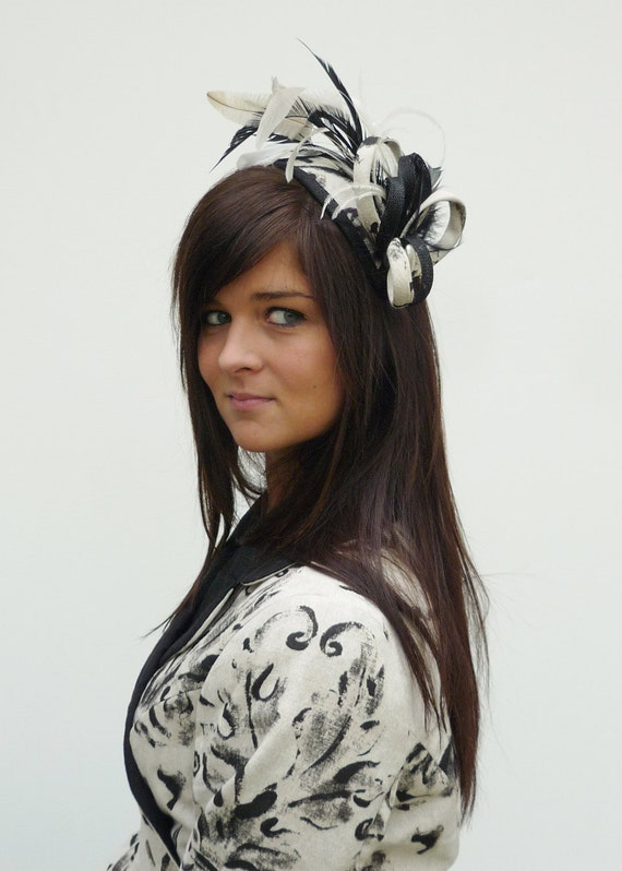 Dutch couture Handstitched matching headpiece completely coordinated with the outfit on aliceband inspired by Kate Middleton