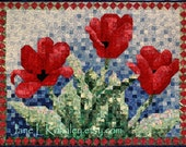 Quilt Pattern - Tulip Mosaic Art Quilt Pattern