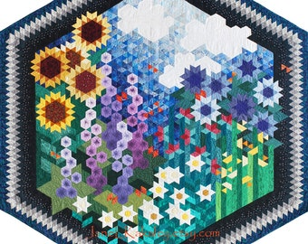 Quilt Pattern - The Other Side of My Grandmother's Flower Garden Quilt Pattern - Immediate Download PDF