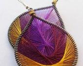 Simple Joy Peruvian Silken Thread Earrings fancy earrings hoop earrings wire wrapped earrings beautiful handmade earrings stylish earrings