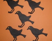 6 Crow Die Cuts Fully Assembled for Scrapbooking Halloween and Cards Embellishments Paper Crows