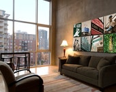 Ultimate Chicago Cubs Art Collection, 6 pc. Wrigley Field Canvas Set, Chicago Canvas, Chicago art, Chicago Photo, Chicago print