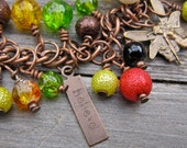Autumn Fall Fairy charm bracelet, one of a set of four