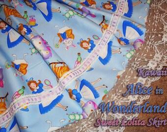 Kawaii Alice in Wonderland Sweet Lolita Skirt - ANY SIZE