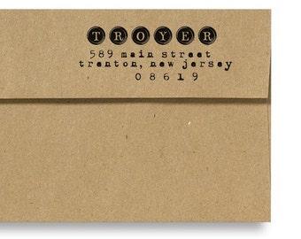 Custom Address Rubber Stamp - Typewriter Keys - Personalized Address Stamp - Typewriter Font Style - DIY - Envelope Addressing - Home Office