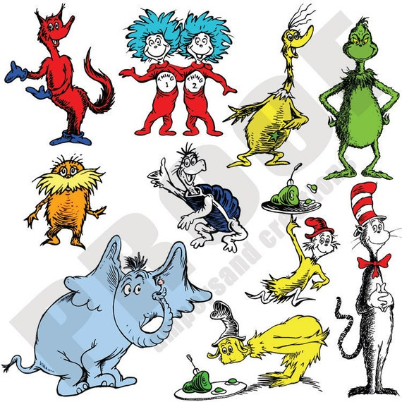 Dr  Seuss Character Po...