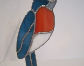 Stained Glass Bluebird Ornament