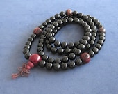 Mala Beads 108 Onyx Meditation Prayer Buddhist Beads Yoga Gift Men Women Zen Worry Beads Red Tiger's Eyes Wood Beads Chinese Word Protection