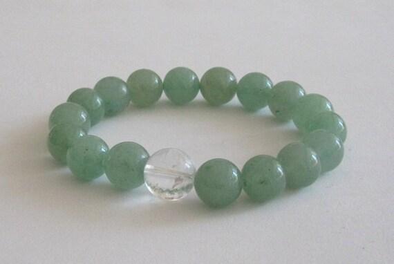 Green Aventurine Mala Beads Chakra Healing Quartz Crystal Women Anniversary Birthday Valentine's Gift ideas for Mother In Law Daughter Wife