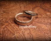 His and Her Fine Silver Wedding Band Set