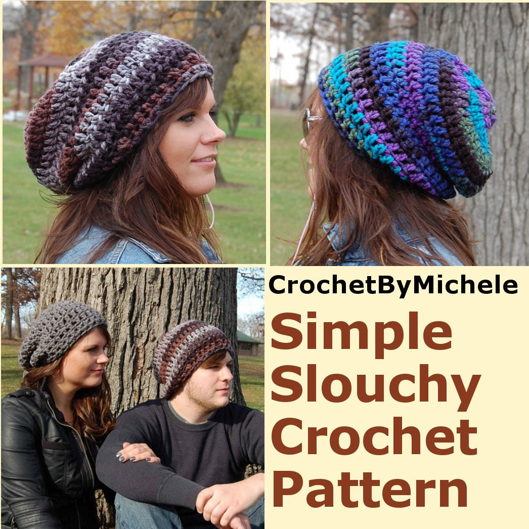 5351795f783 Super Easy PDF Download Crochet Hat PATTERN