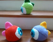 Amigurumi Monster Ball Crochet Pattern  - boys amigurumi pattern - Instant Download