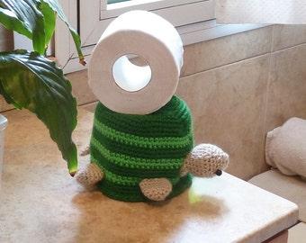 Crochet Toilet Paper Cover pattern or Hat Turtle - BATHroom deco & Beanie children accessory - PDF  - Instant DOWNLOAD