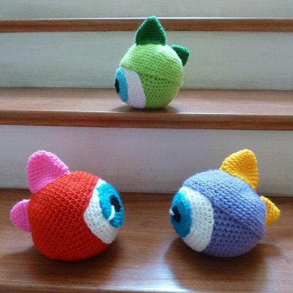 Amigurumi Monster Ball Crochet Pattern  - boys amigurumi pattern - Instant Download