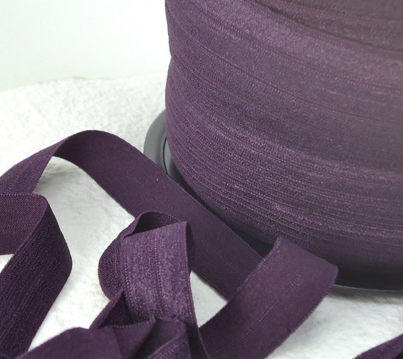 For Ginger Only..............50yds Elastic Fold Over HeadBands Ponytail 5/8 inch 15mm FOE Purple