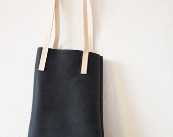 black leather bag (small)