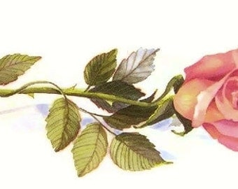 Single Rose Print - Watercolor Painting