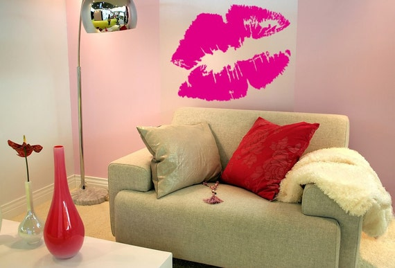 Lips Kissing Lips Vinyl Decal Wall Art Pouty Lips