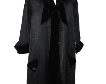 Vintage Victorian Edwardian Velvet Silk Opera Coat Jacket