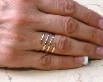 Spiral Ring - 14K Rose Gold Filled Spiral Ring