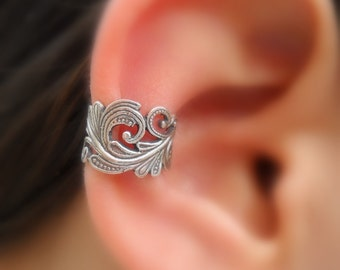 Sterling Silver Ear Cuff - Lace - Fake Piercing - Faux Piercing - Fake Piercings - Fake Conch Piercing - Non Pierced - Conch Cuff