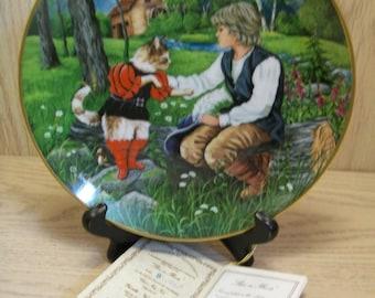 Puss In Boots Collector Plate Gerda Neubacher Kaiser Porcelain 1983