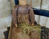 Primitive Sewing Pattern Prairie Doll by Walnut Ridge Primitives