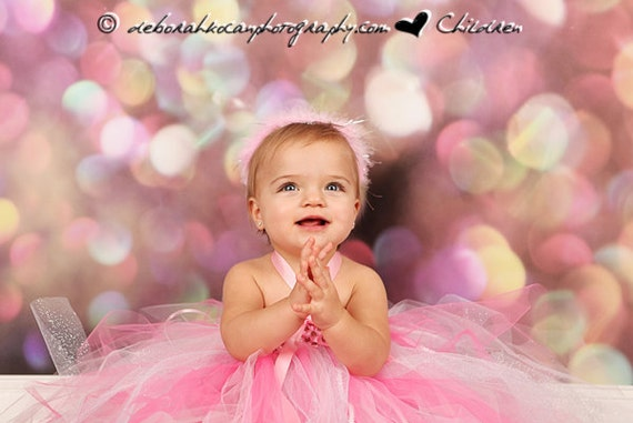 1st, 2nd, 3rd, 4th Birthday Princess Pink Tulle Tutu Dress with Tiara for Birthday Princesses, Costume, Photography