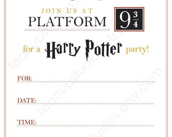 PRINTABLE Harry Potter Invitation - PDF