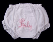 Two Baby Bloomers Personalized Name Initials or Designs