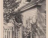 Grandma's House, Nantucket post card. Gardiner black & white