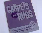 Hoover Carpet and Rugs 1950s Booklet