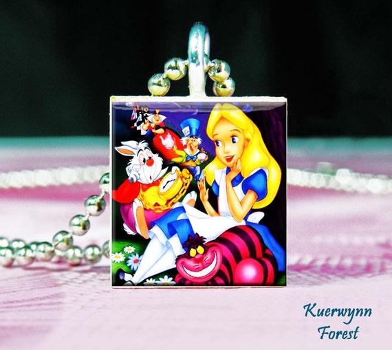Alice in Wonderland Tile Pendant - Charm