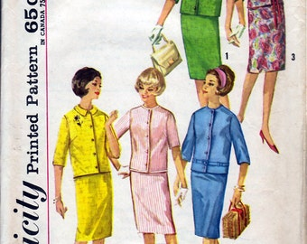 Bust 34-1960's Misses' Skirt and Jacket  Simplicity 4859  Size 14