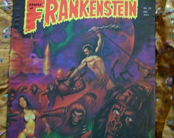 Frankenstein Castle Of Frankenstein no 23 1974 Planet Apes Roger Corman Not Of This Earth Alphaville Sci Fi
