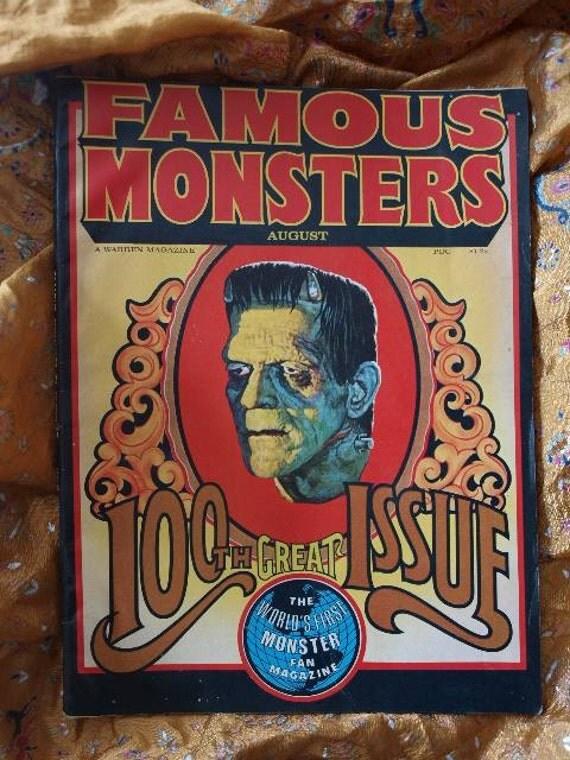 Famous Monsters, Frankenstein, 100th Issue Boris Karloff 1973, Basil Gogos